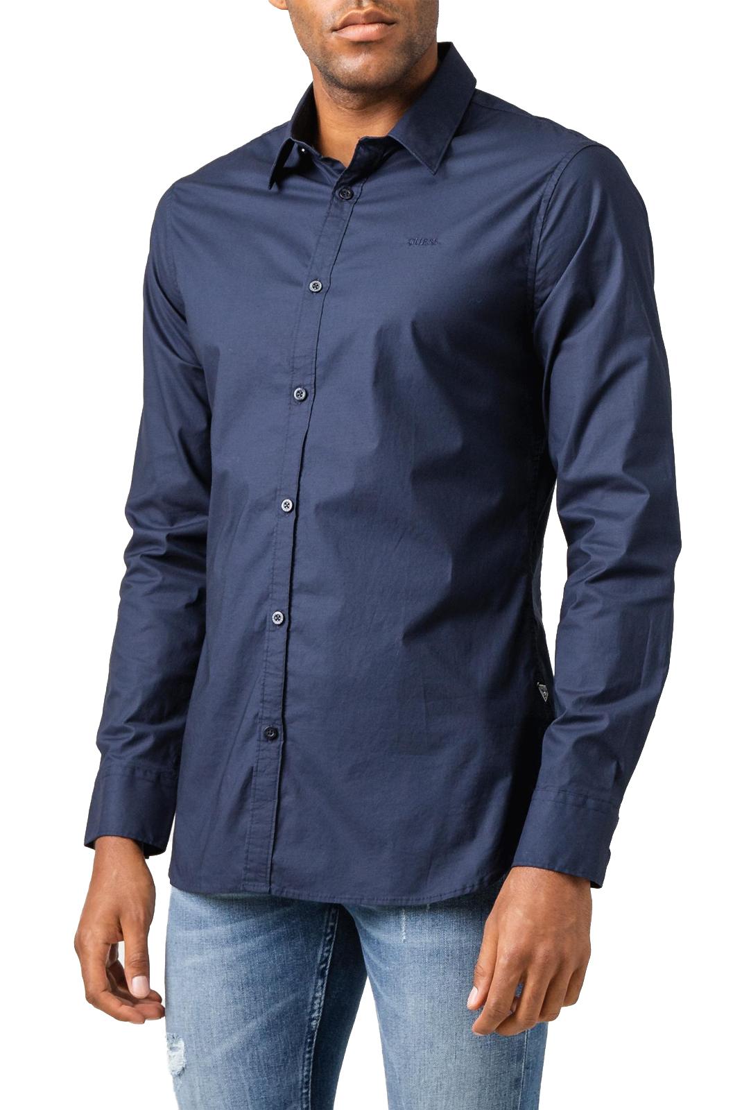 Chemises manches longues  Guess jeans M94H20 WCC70 SUNSET SHIRT G720 BLUE NAVY