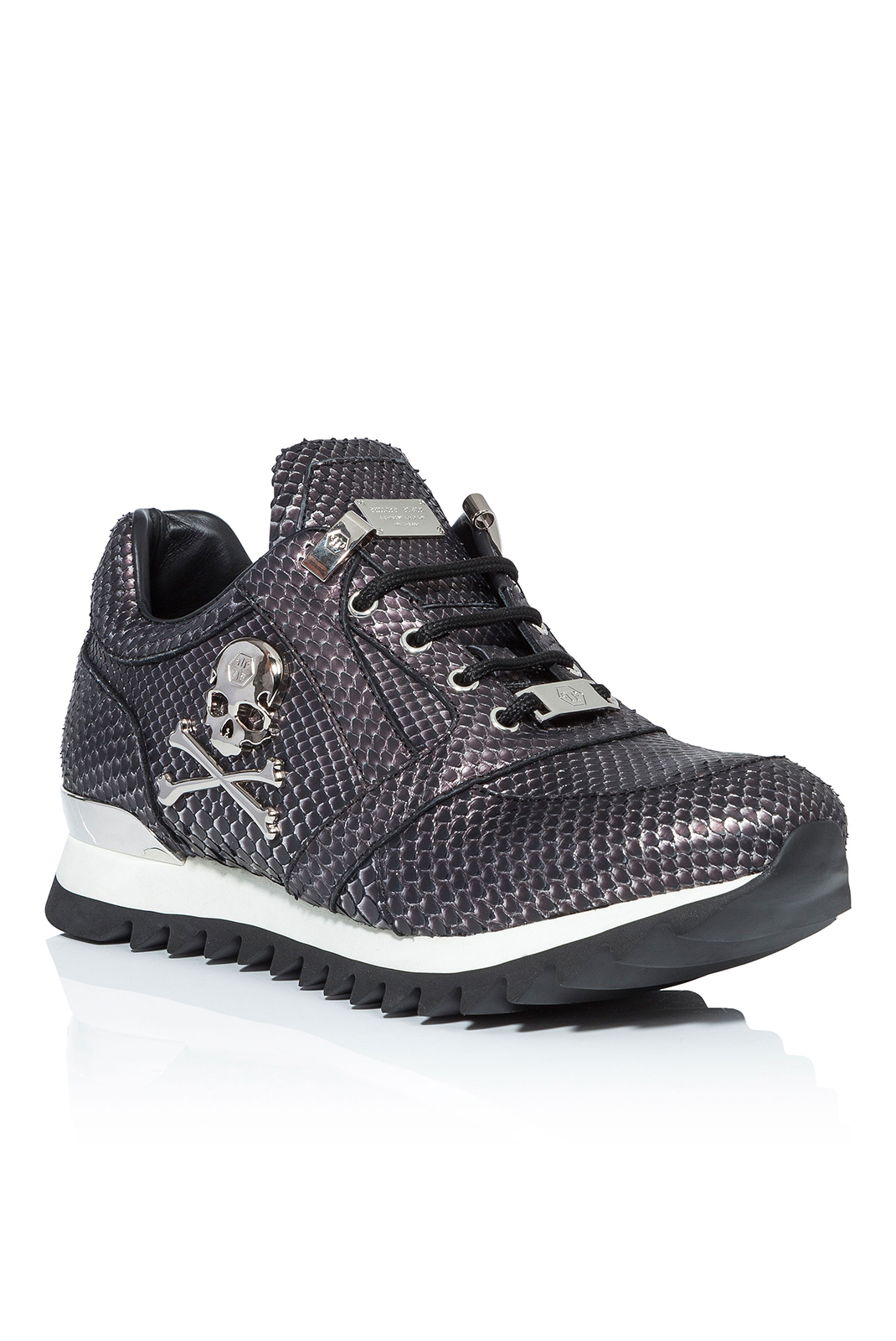 Baskets / Sport  Philipp plein MSC0728 SKULL BISCUIT SILVER/NICKEL