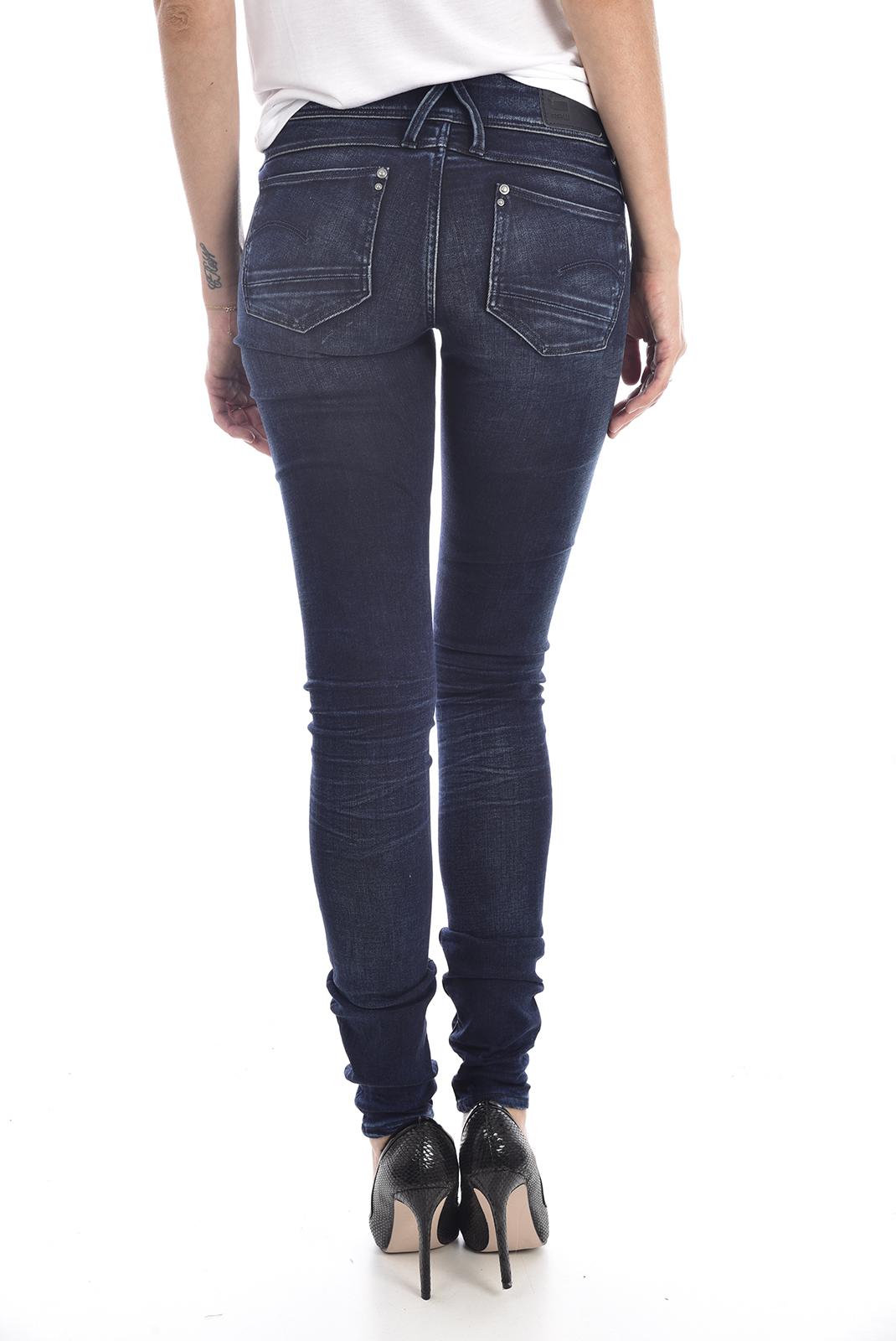 Jeans   G-star 60887-6549-89 lynn zip bleu