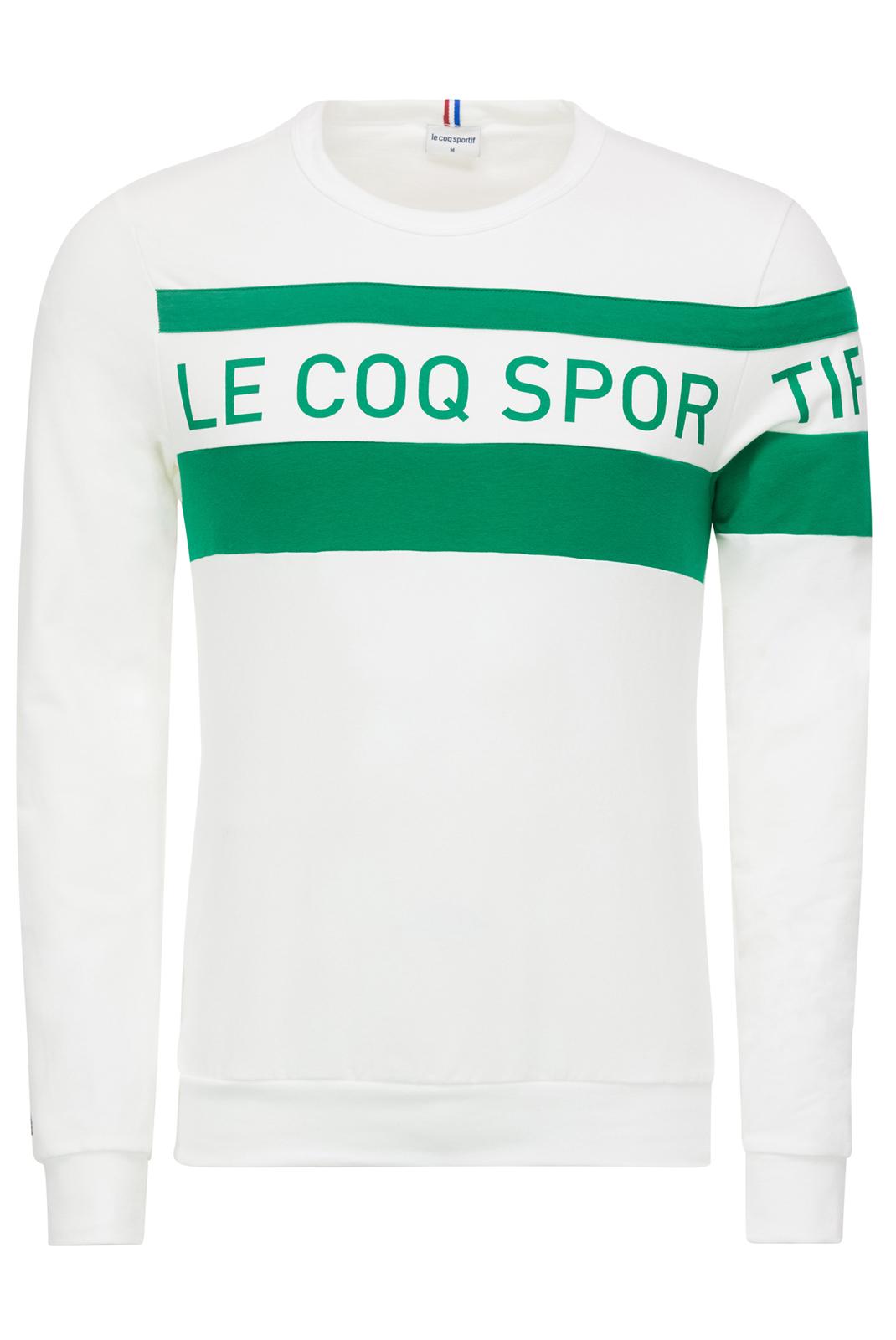 T-S manches longues  Le coq sportif 1811710 BLANC/VERT