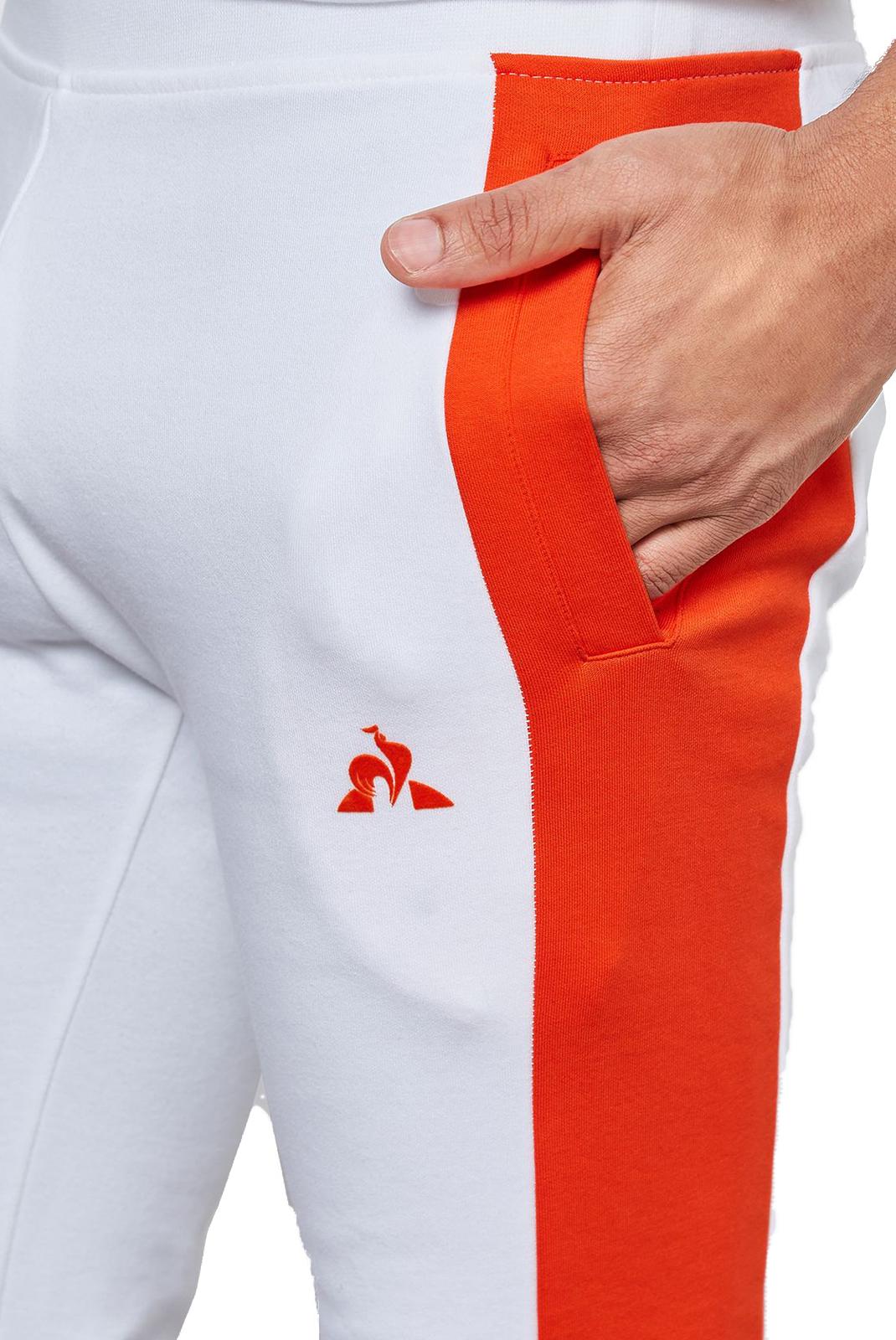 Pantalons sport/streetwear  Le coq sportif 1820046 BLANC/ORANGE