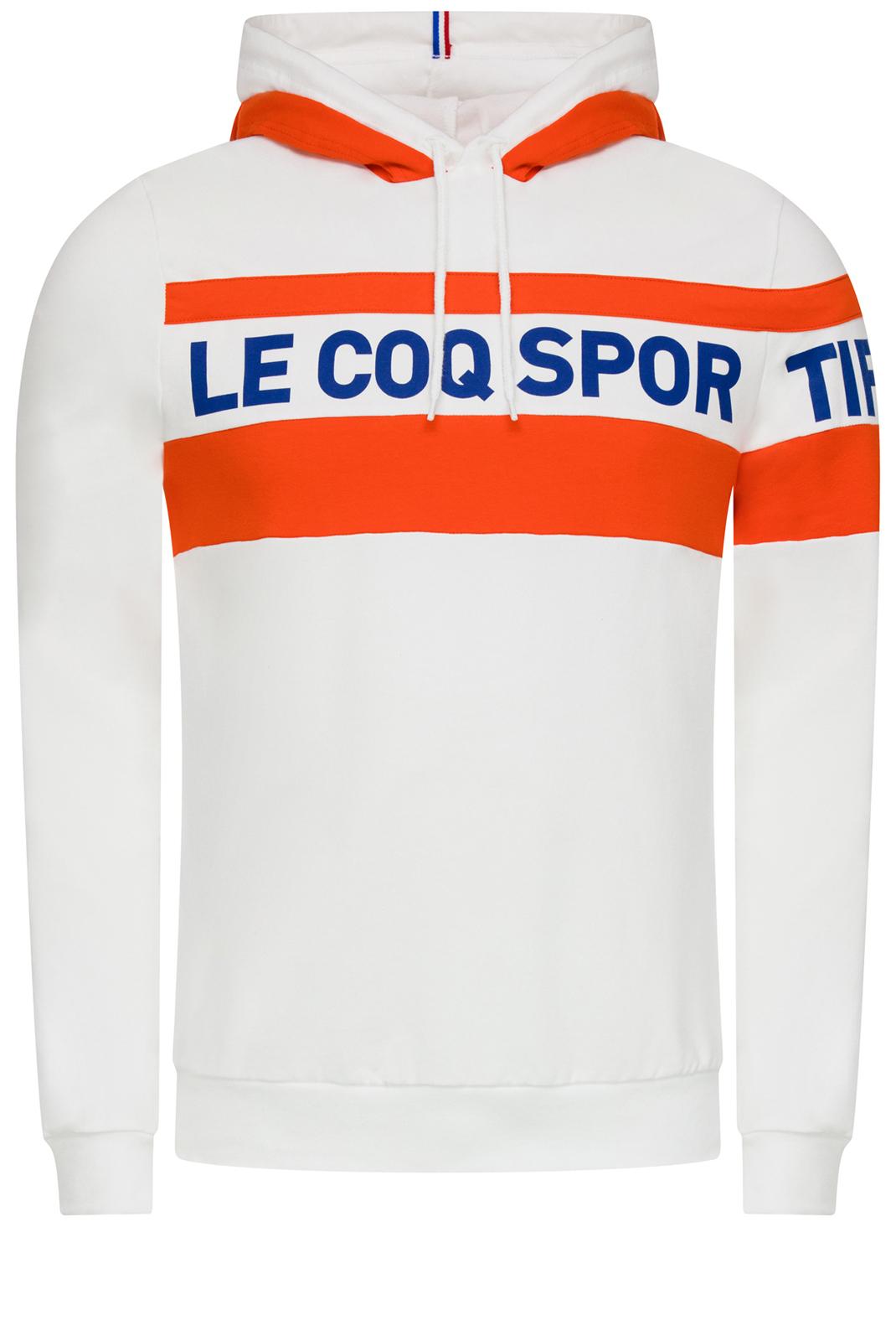 T-S manches longues  Le coq sportif 1911309 BLANC/ORANGE