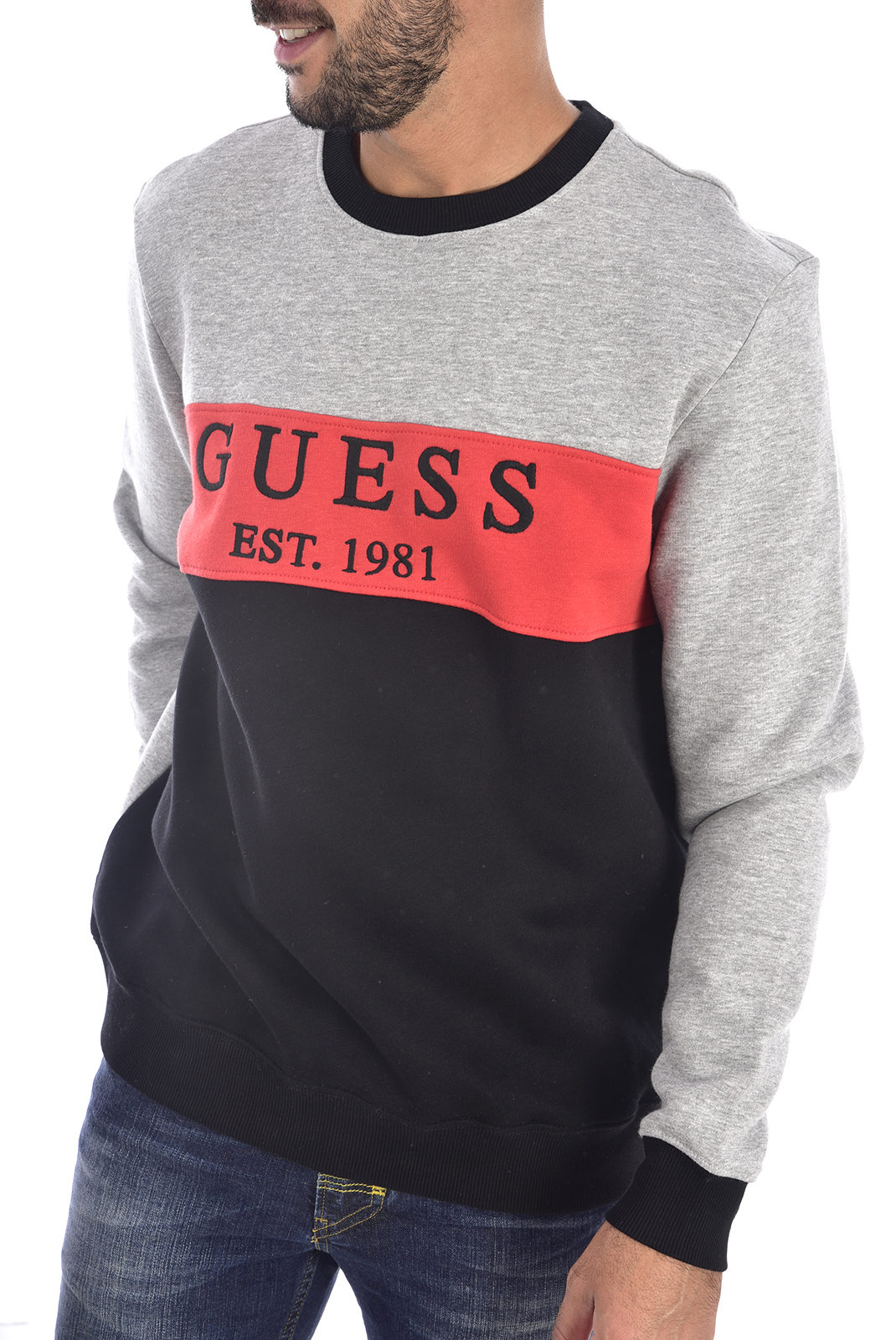 Pulls & Gilets  Guess jeans M94Q39 K92E0 F90G GREY BLACK ORANGE
