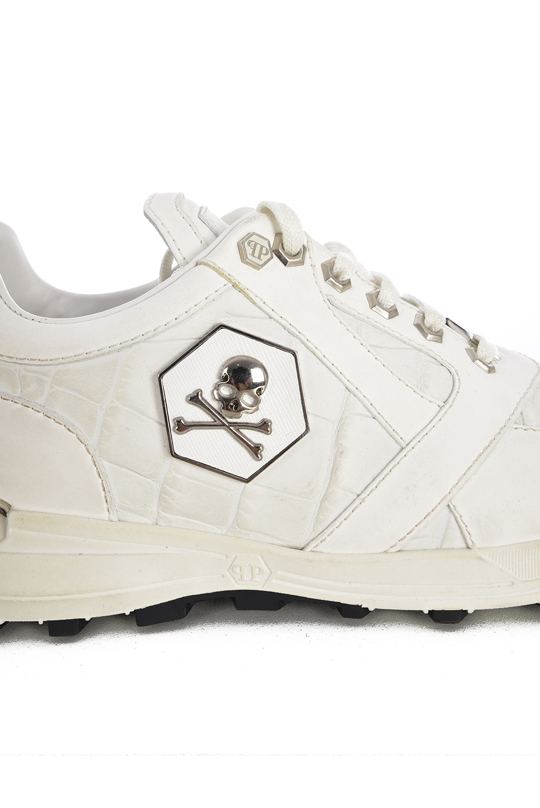 Baskets / Sport  Philipp plein MSC0244 FERGY WHITE/NICKEL
