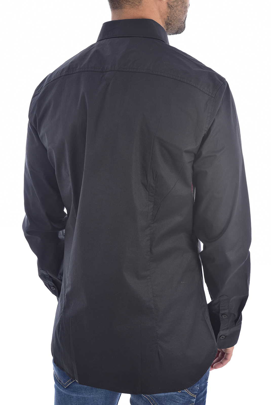 Chemises manches longues  Guess jeans M94H20 WCC70 SUNSET SHIRT Jet Black A996