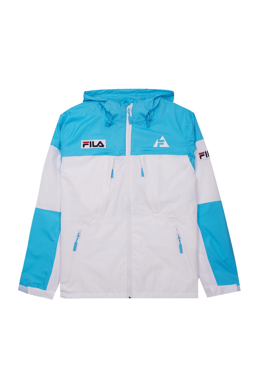 Blouson / doudoune  Fila 687122 HOLT SHELL A276 bright white-blue atoll