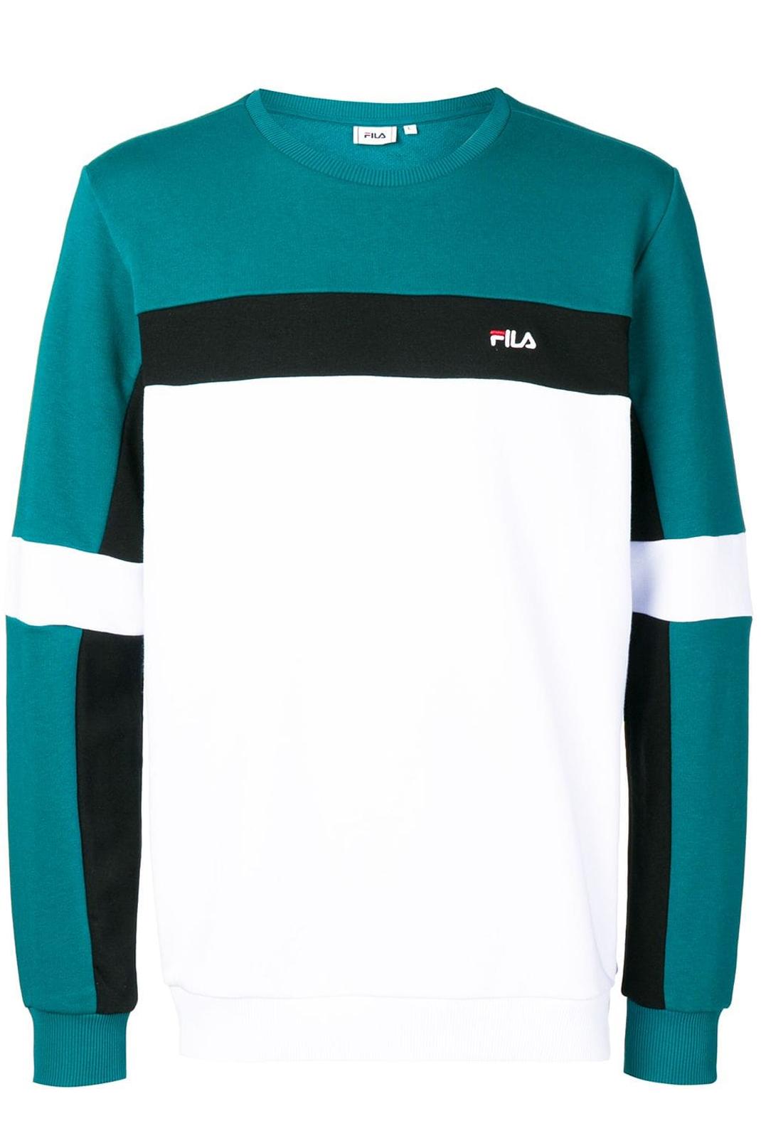 Pulls & Gilets  Fila 687165 norbin A083 shades spruce-black-bright white