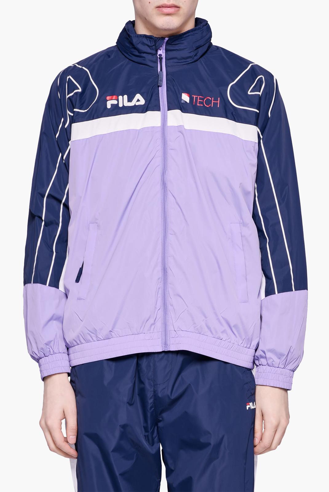 Vestes zippées  Fila 687013 DAN A074 violet tulip-black iris-bright white