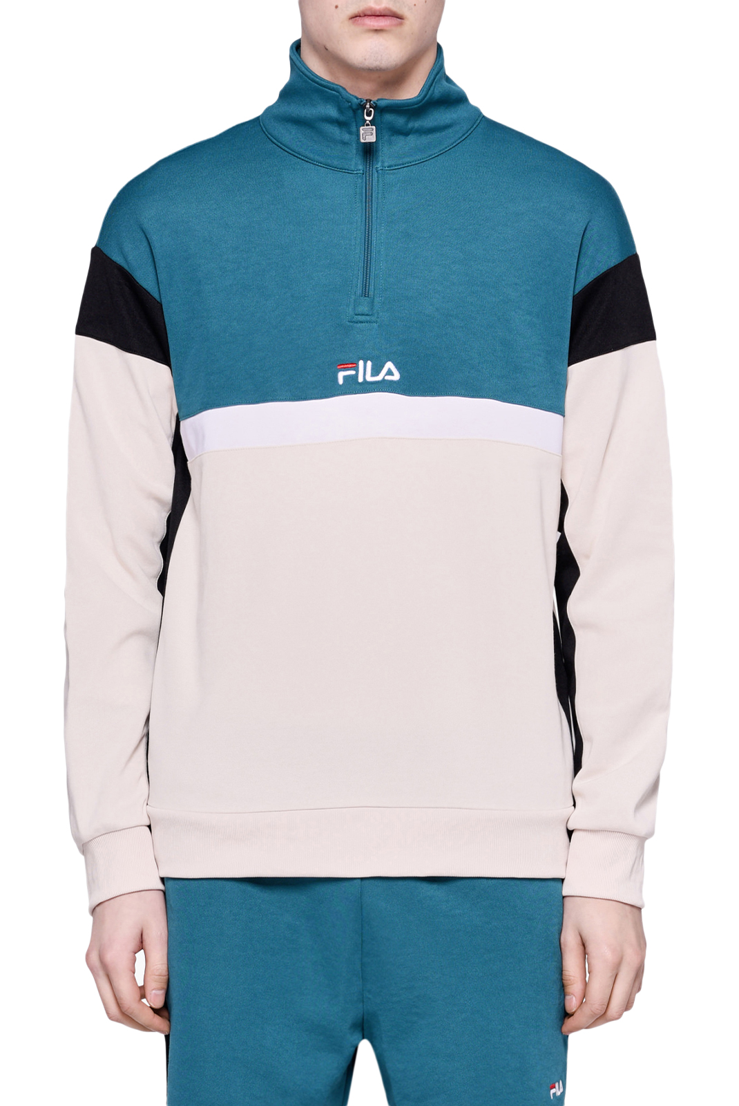 Pulls & Gilets  Fila 682356 HERRON A081 shaded spruce-black-whitecap gray