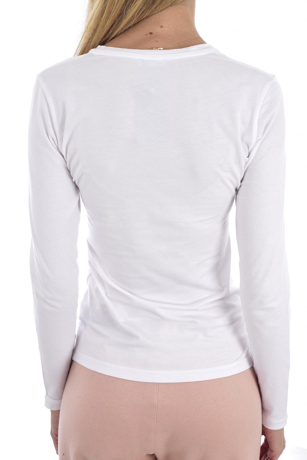 Tee shirt manches longues  Emporio armani 163229 9A232 010 BLANC