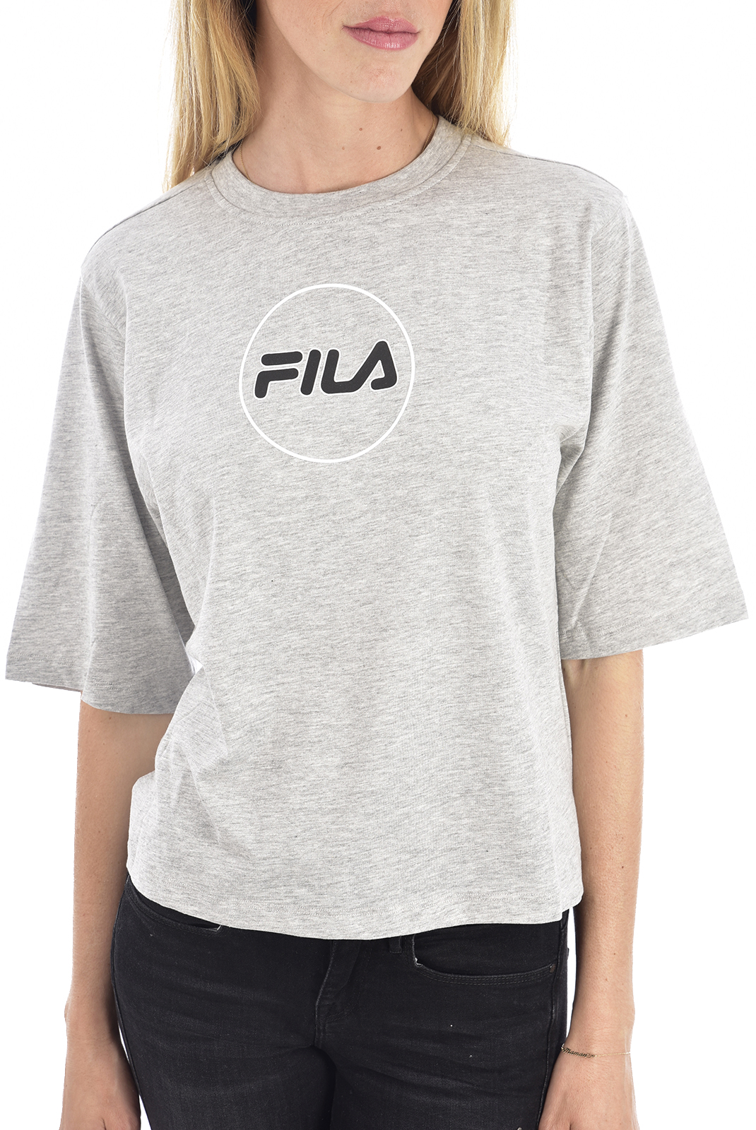 Tee shirt  Fila 682310 B13 light grey melange bros