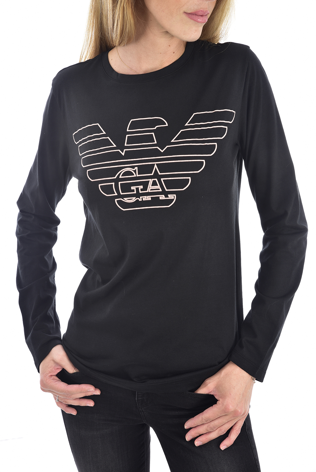Tee shirt manches longues  Emporio armani 164258 9A255 020 BLACK