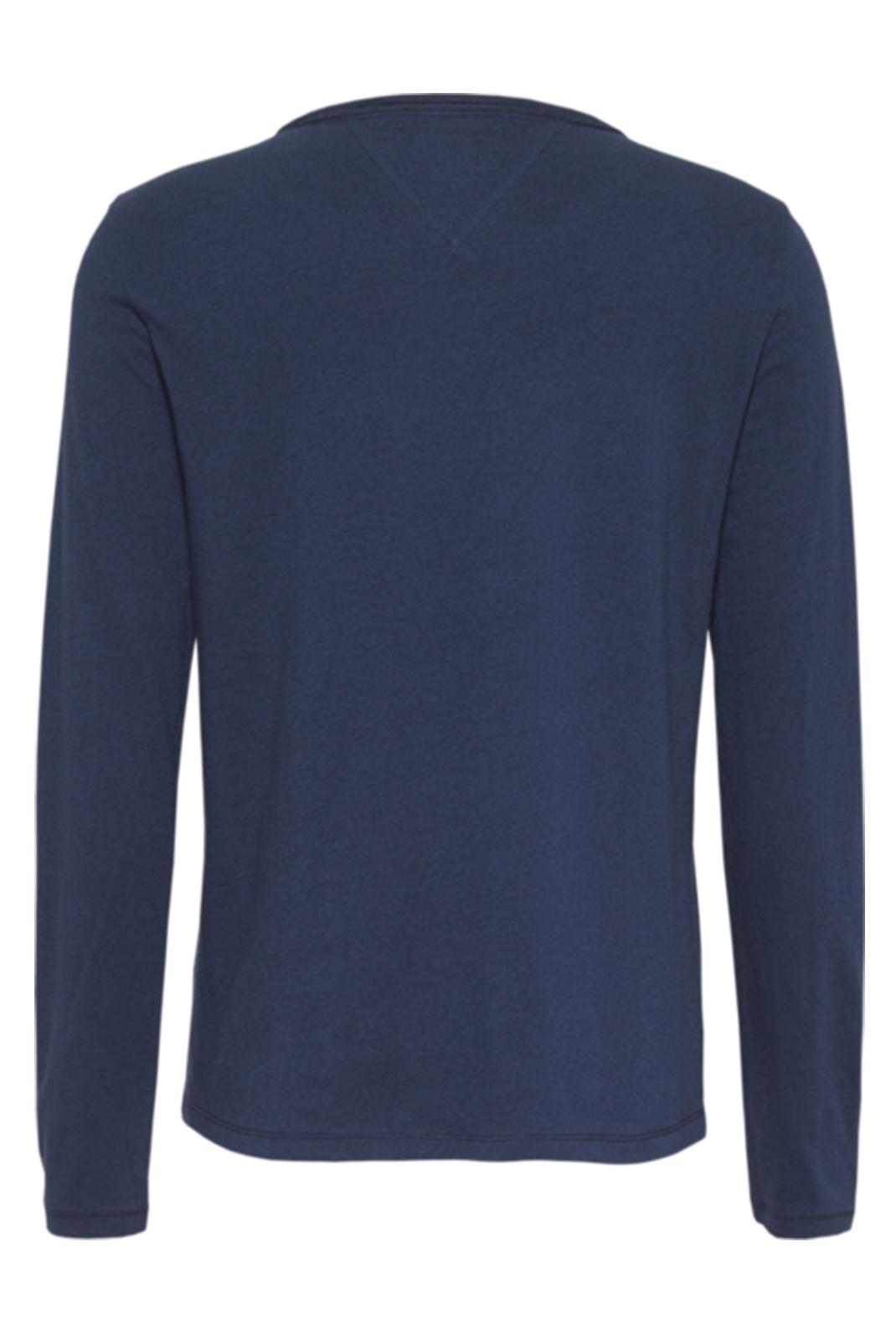 Tee shirt manches longues  Tommy Jeans DW0DW06900 002 BLACK IRIS