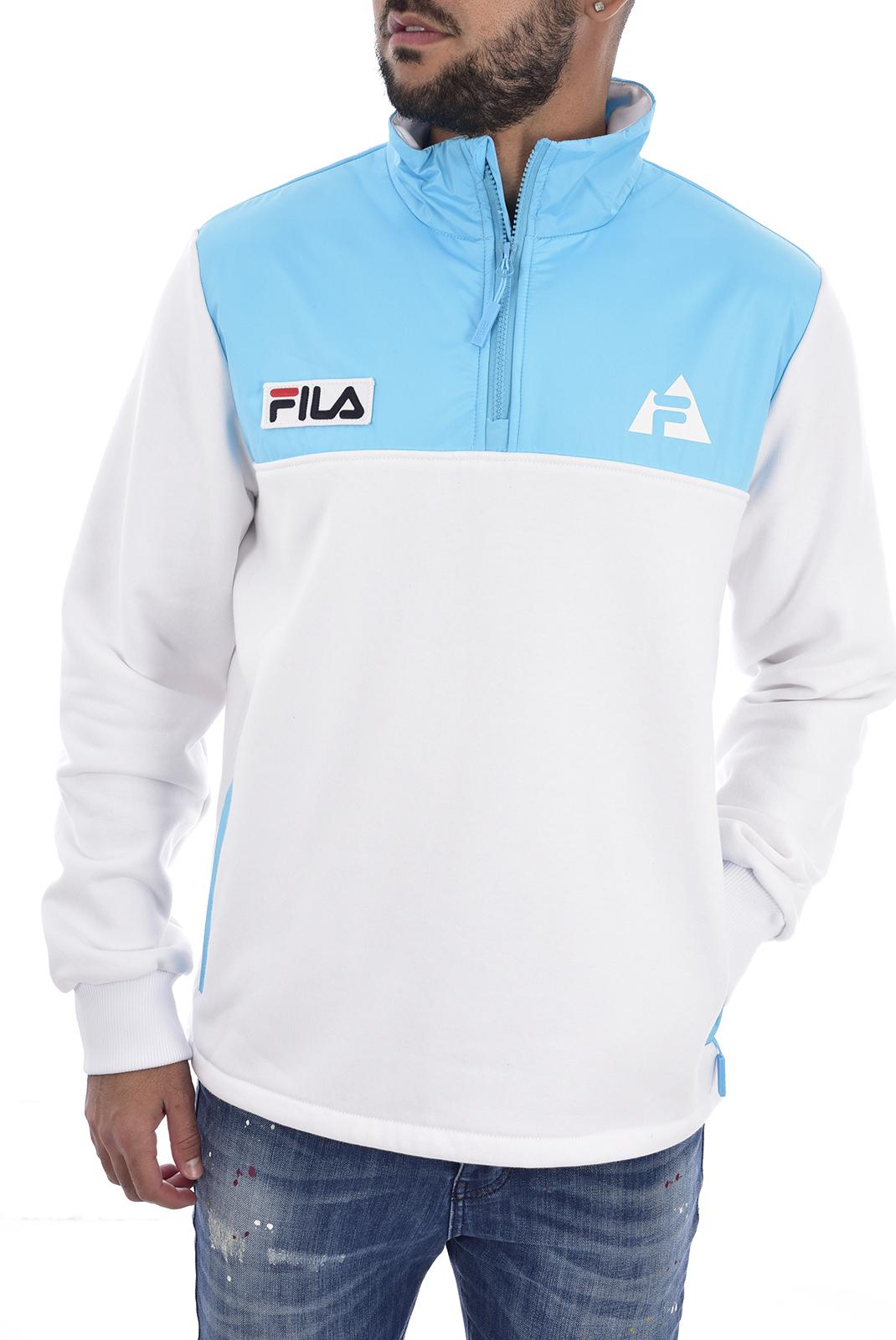 Sweatshirts  Fila 687018 AIDEN A276 bright white-blue atoll
