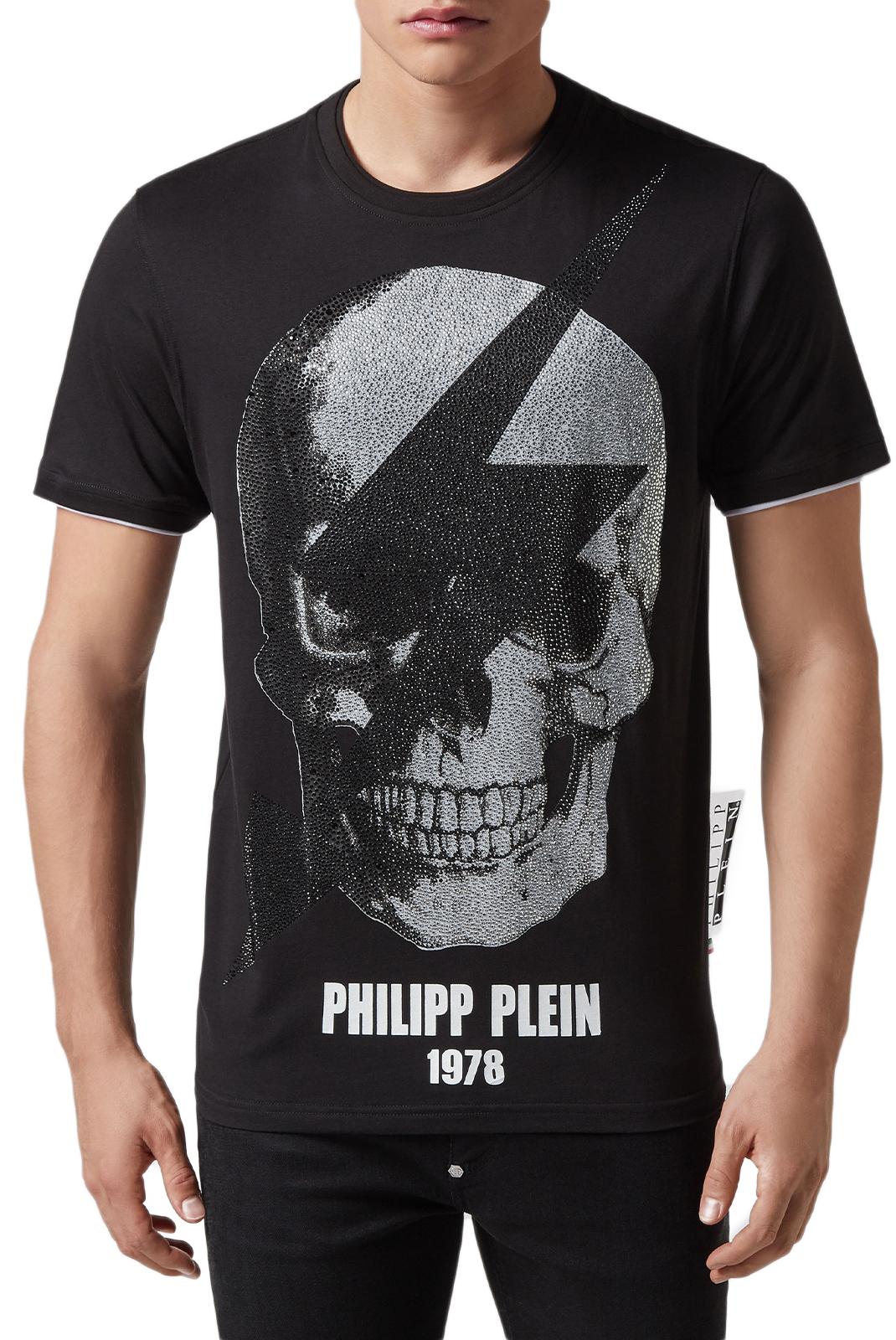 Tee-shirts  Philipp plein MTK3332 PJY002N 02 BLACK