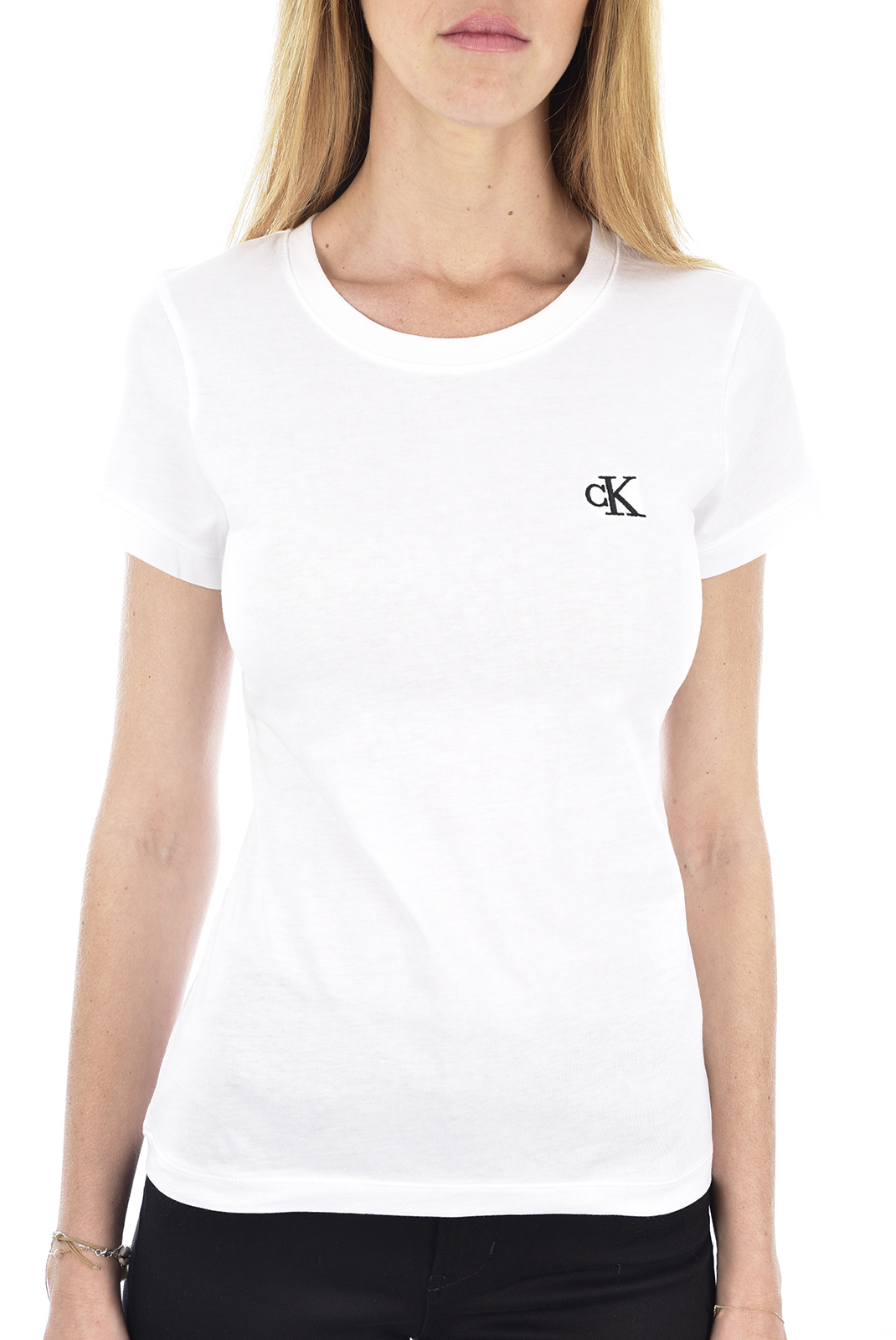 Tee shirt  Calvin klein J20J212883 EMBROIDERY YAF BRIGHT WHITE