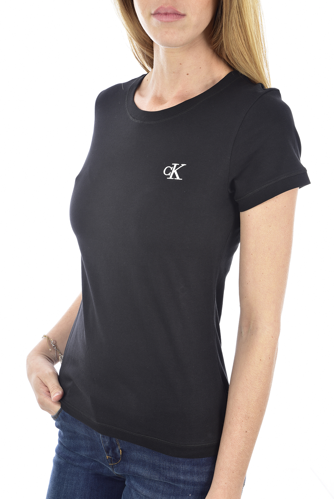 Tee shirt  Calvin klein J20J212883 EMBROIDERY BAE CK BLACK