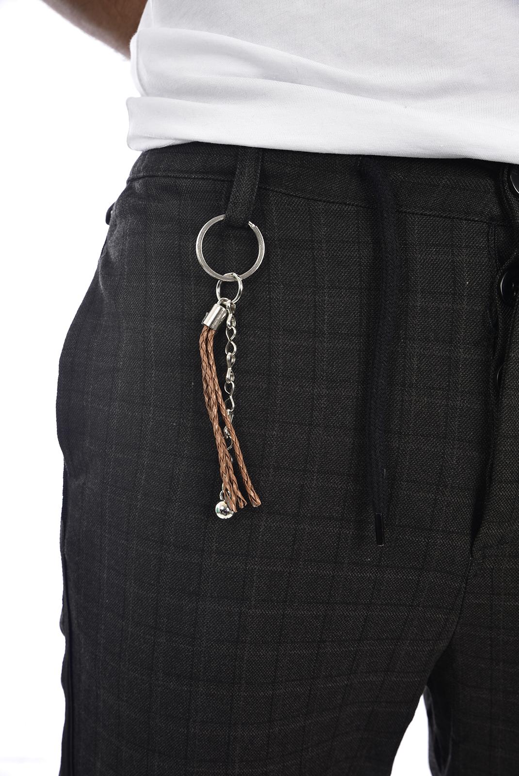 Pantalons chino/citadin  Goldenim paris 1353 GRIS FONCE