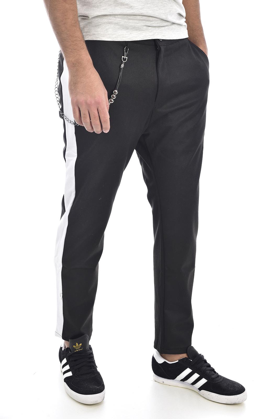 Pantalons chino/citadin  Goldenim paris 1352 NOIR/BLANC
