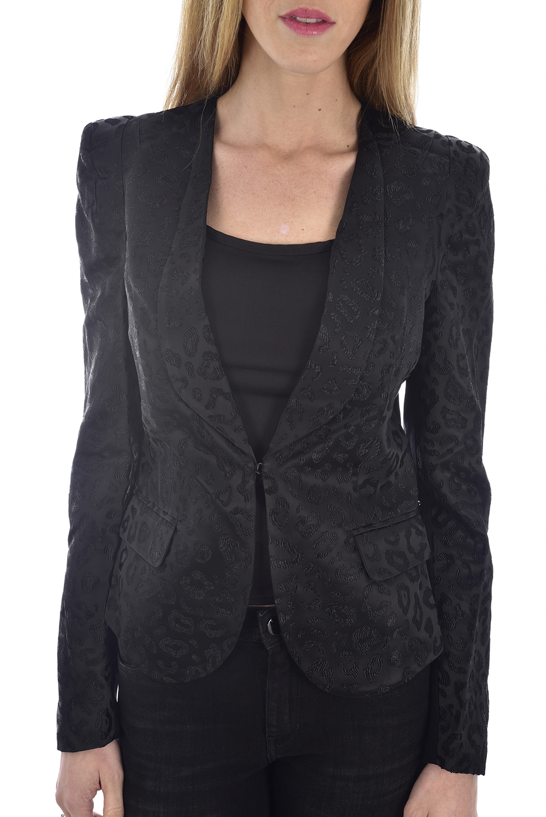 Vestes & blousons  Guess jeans W81N05K6VY0 A996 JET BLACK
