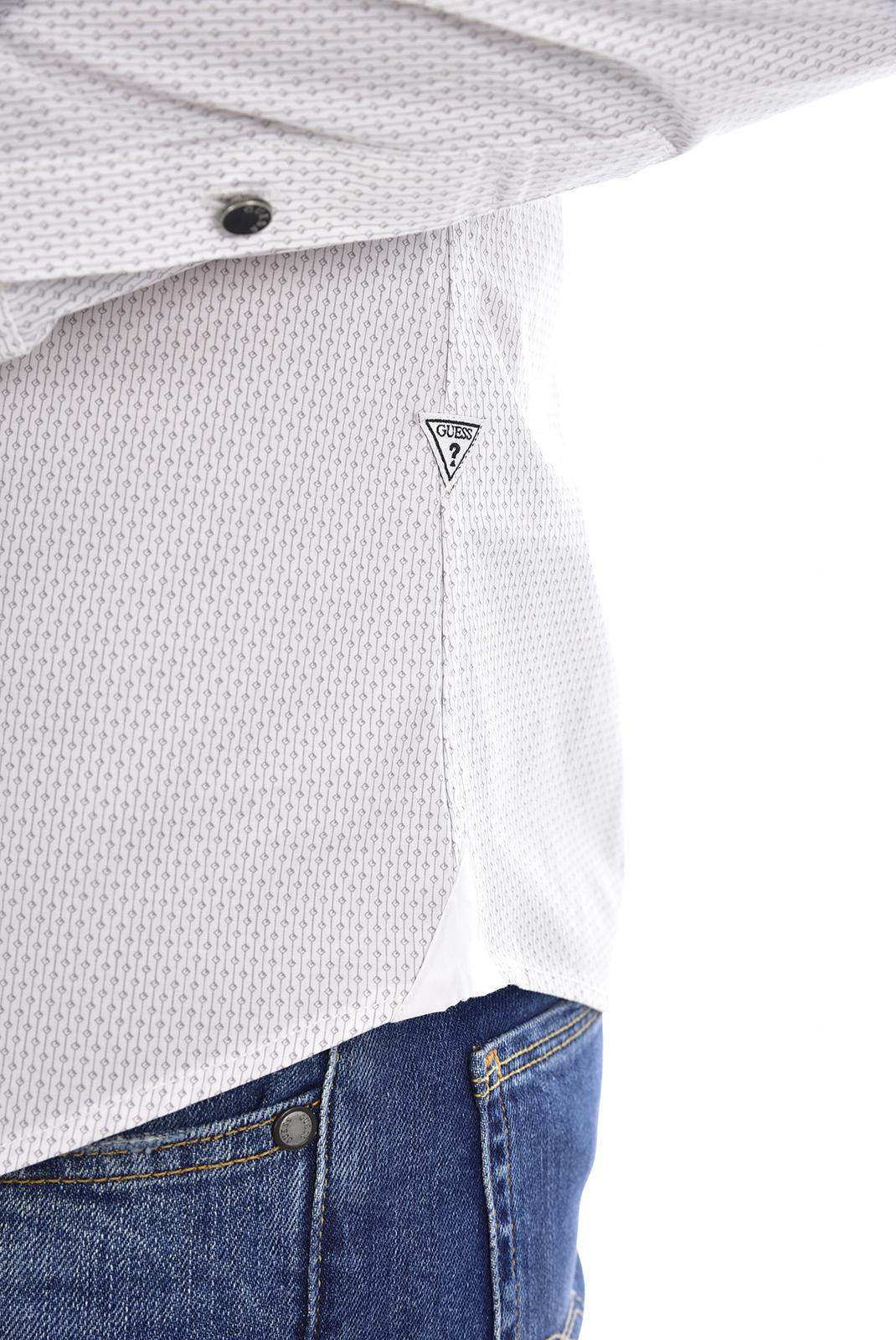 Chemises manches longues  Guess jeans M81H41W7VX0 PV95 LINK EVENING GREY PR