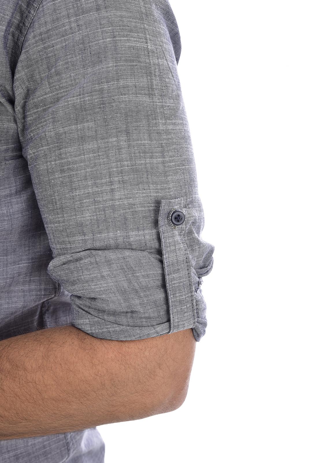 Chemises manches longues  Goldenim paris 1024 GRIS CLAIR