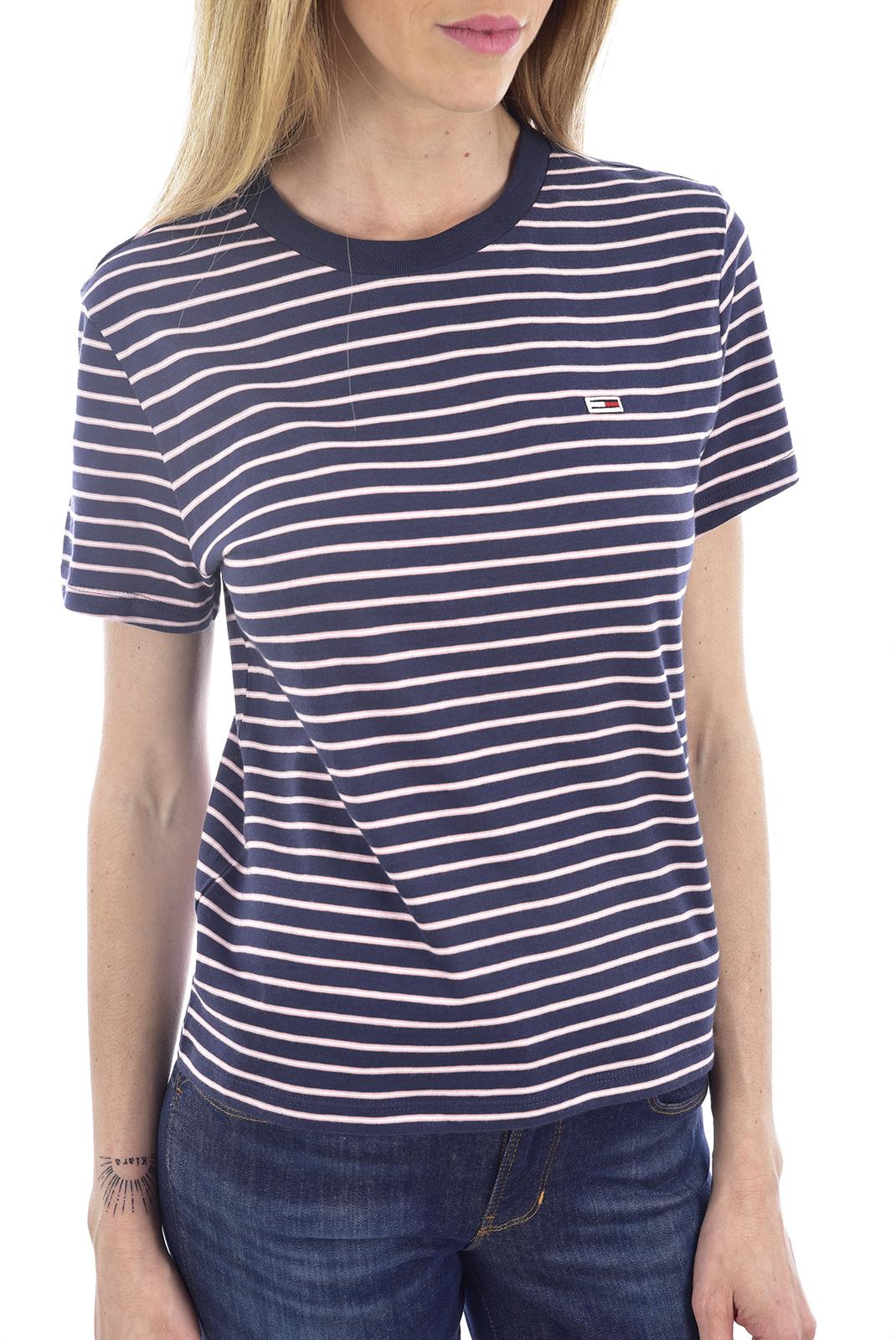 Tee shirt  Tommy Jeans DW0DW07140 0A4 black iris /multi