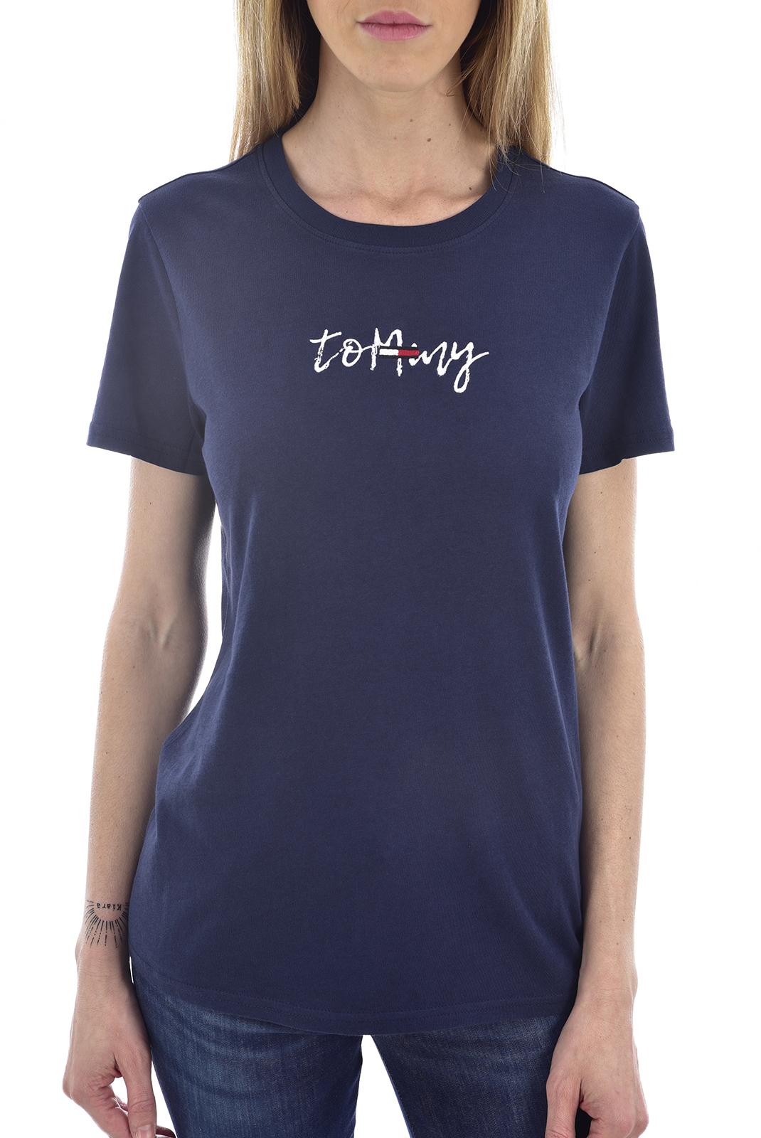 Tee shirt  Tommy Jeans DW0DW06710 002 Black Iris