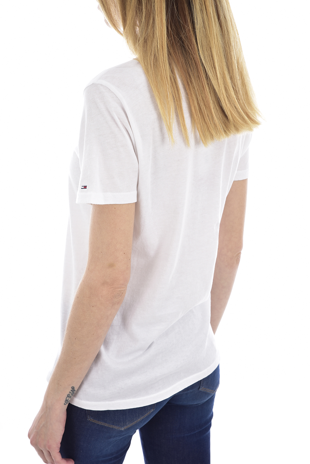 Tee shirt  Tommy Jeans DW0DW06710 100 Classic White