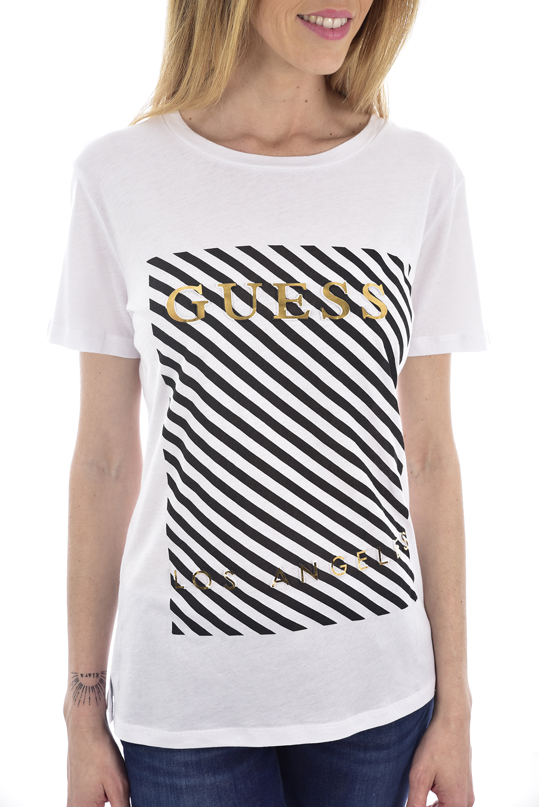 Tee shirt  Guess jeans W91I72 K7WS0 TWHT A000