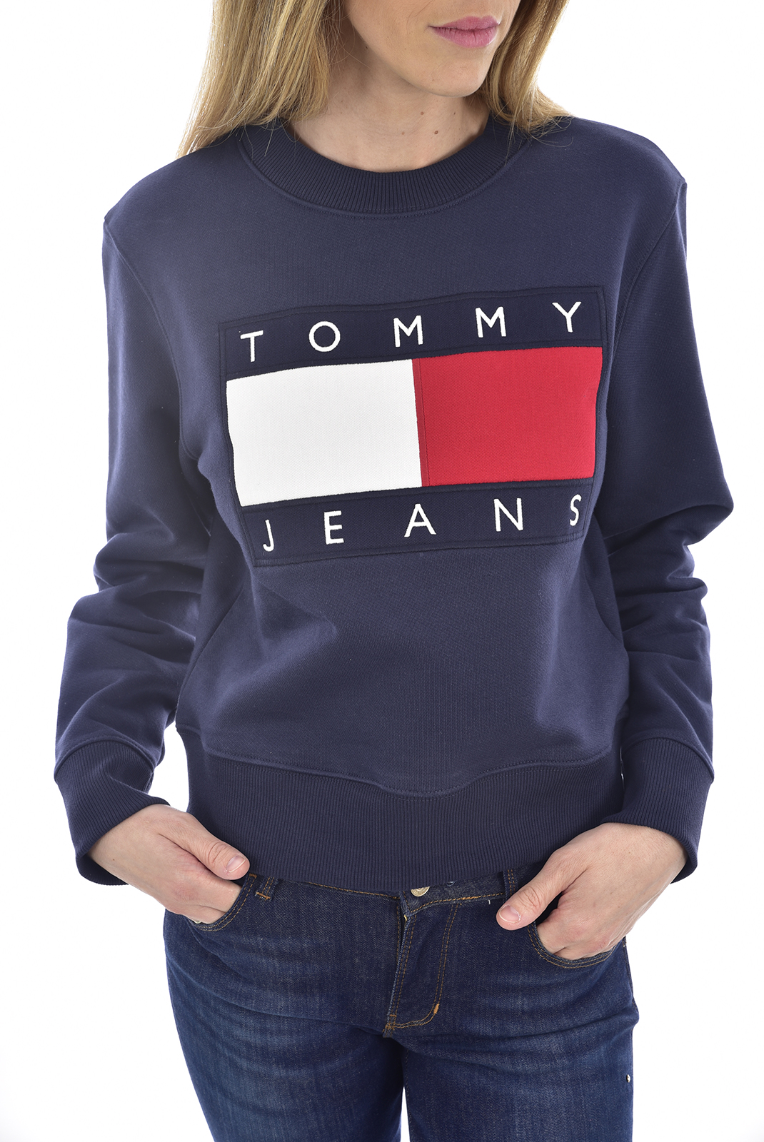 Sweat / sweat zippé  Tommy Jeans DW0DW07414 CBK black iris