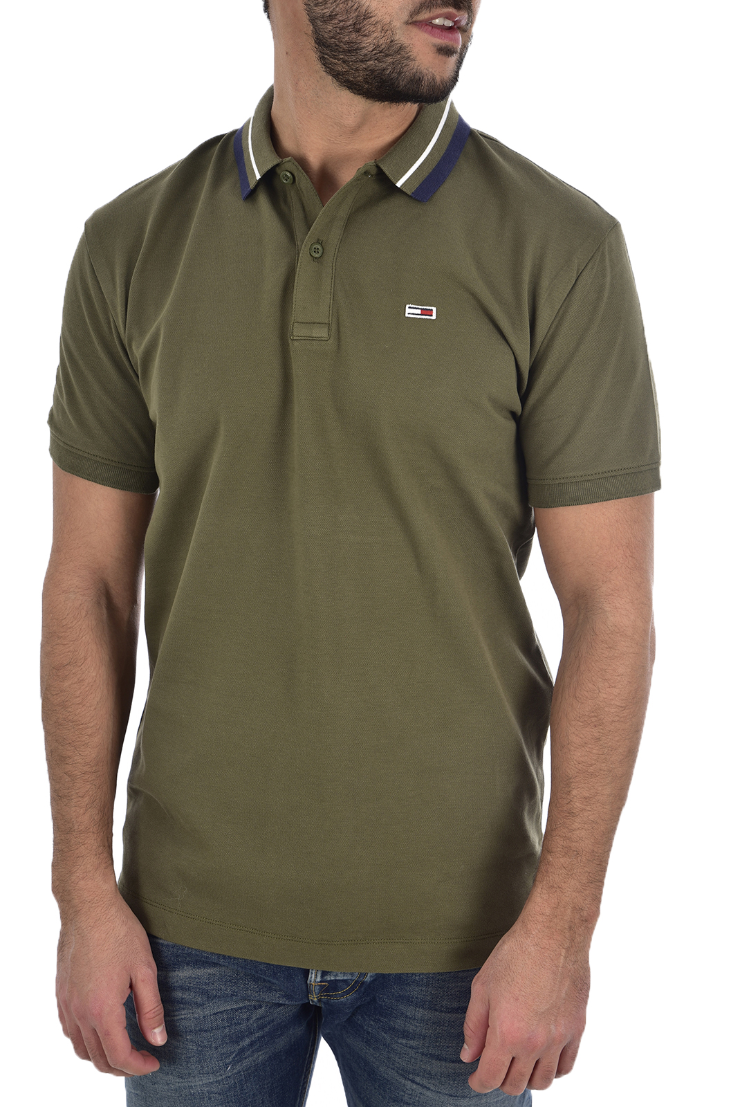 Polos  Tommy Jeans DM0DM05509 307 Olive Night