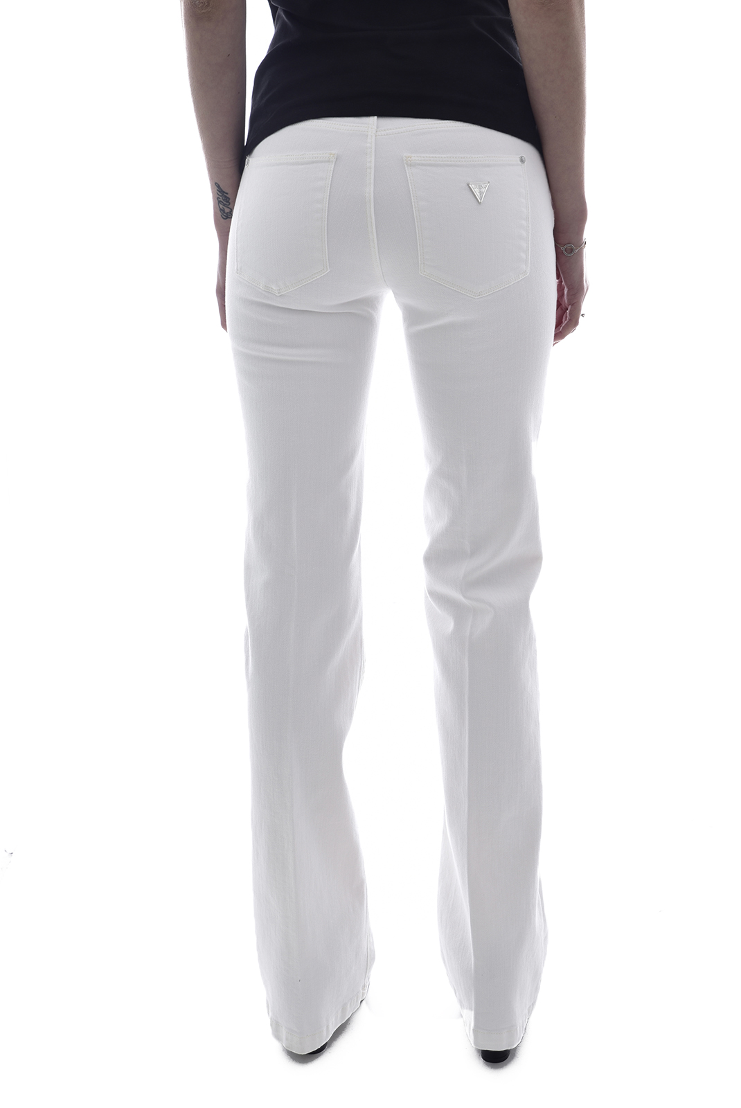 Jeans   Guess jeans W02A58 D2G6I SEXY BOOT JUWHJUNGLE WHITE