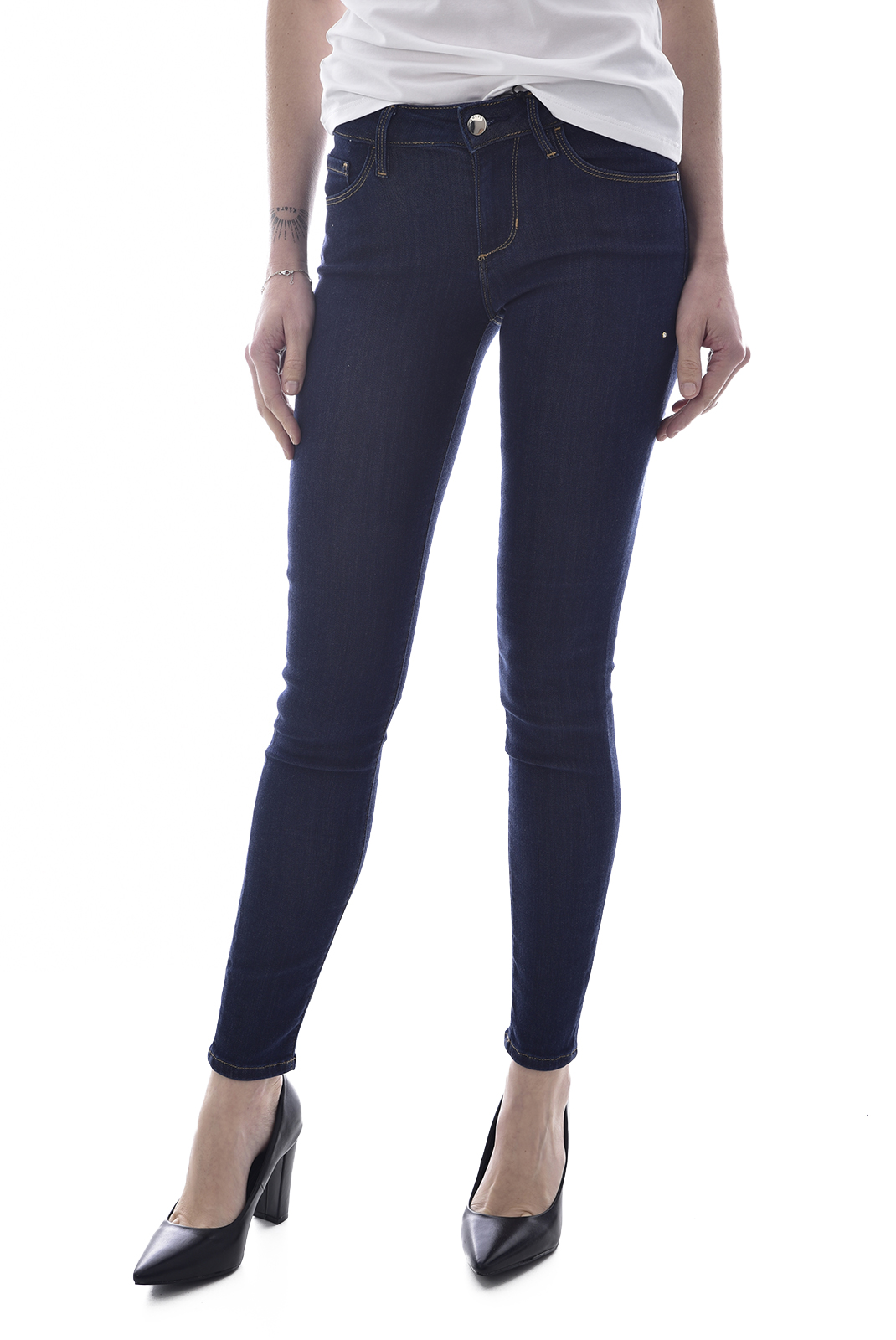 Jeans   Guess jeans W0GA99 D32J5 ANNETTE ECFDECO FEATHER DARK