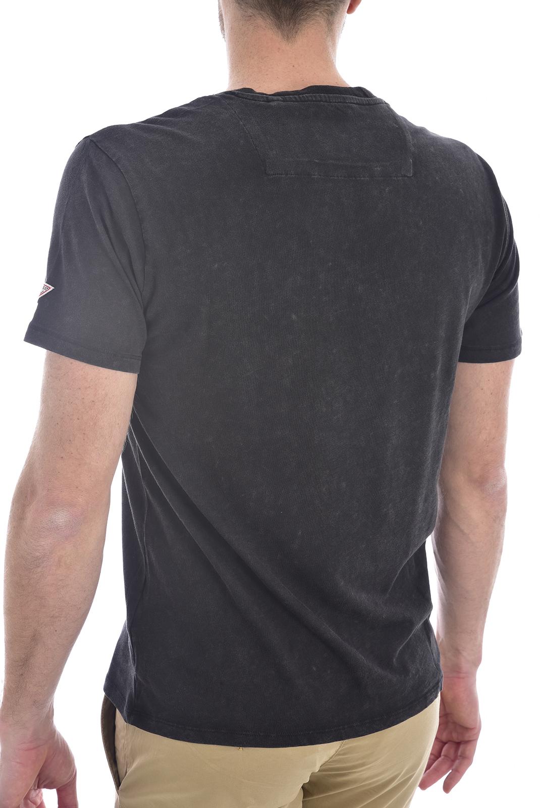 T-S manches courtes  Guess jeans M0GI55 K6XN0VN SS POCKET SLUB Jet Black A996