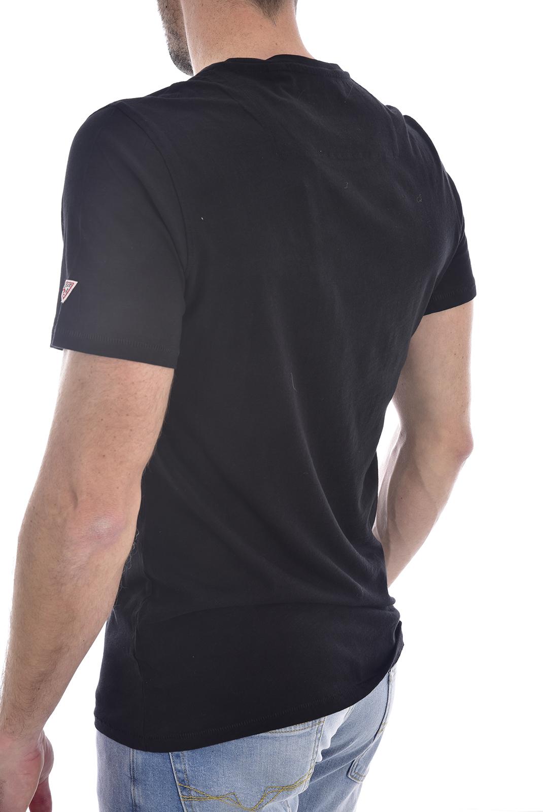T-S manches courtes  Guess jeans M0GI68 K6XN0CN SS PRINTED POCKET JBLK/POL7 POCKET