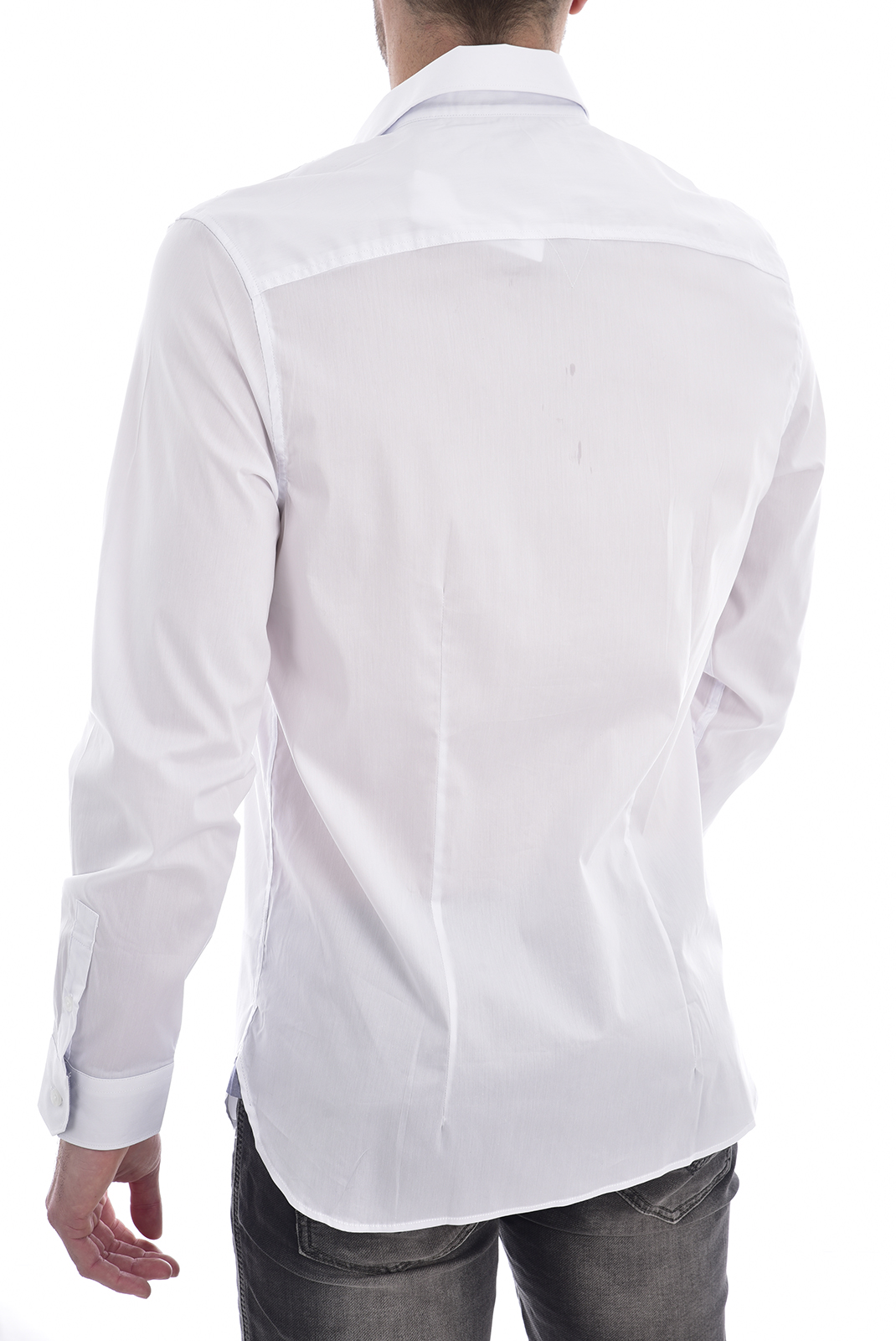 Chemises manches longues  Guess jeans M02H13 W7ZK0LS ALAMEDA TRUE WHITE A000
