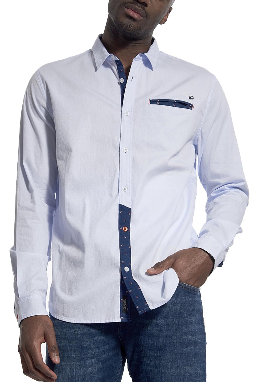 Chemises manches longues  Kaporal CALI LIGHT BLUE
