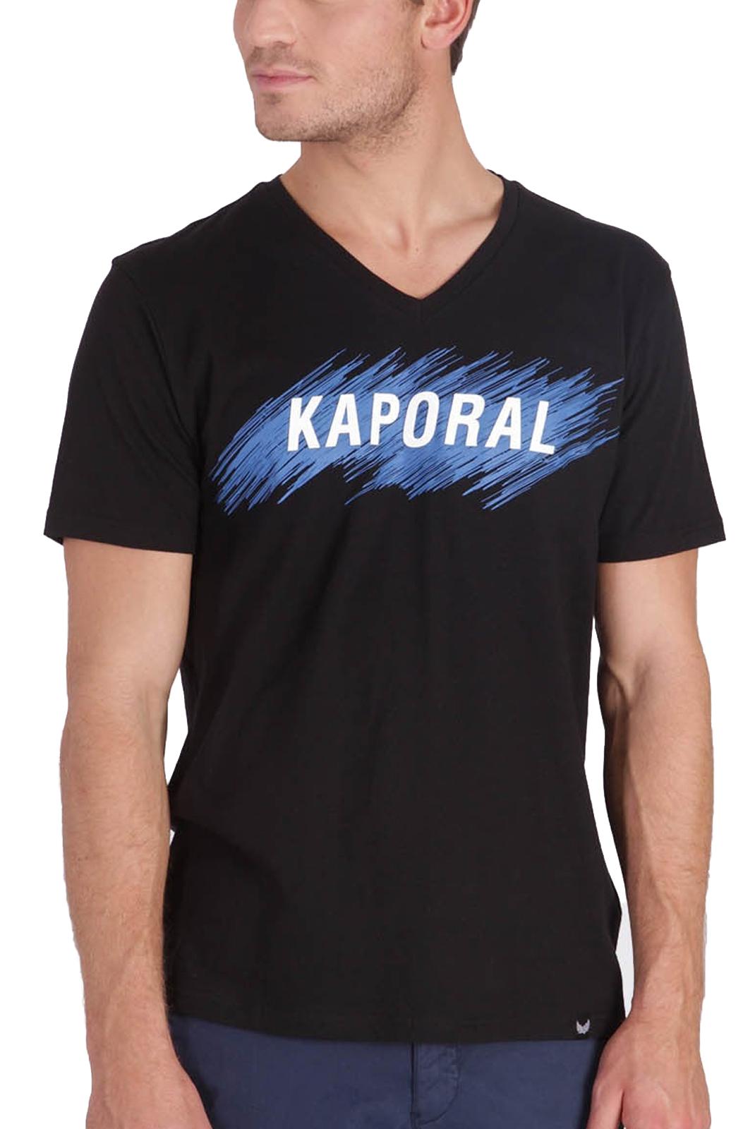 T-S manches courtes  Kaporal MASS BLACK