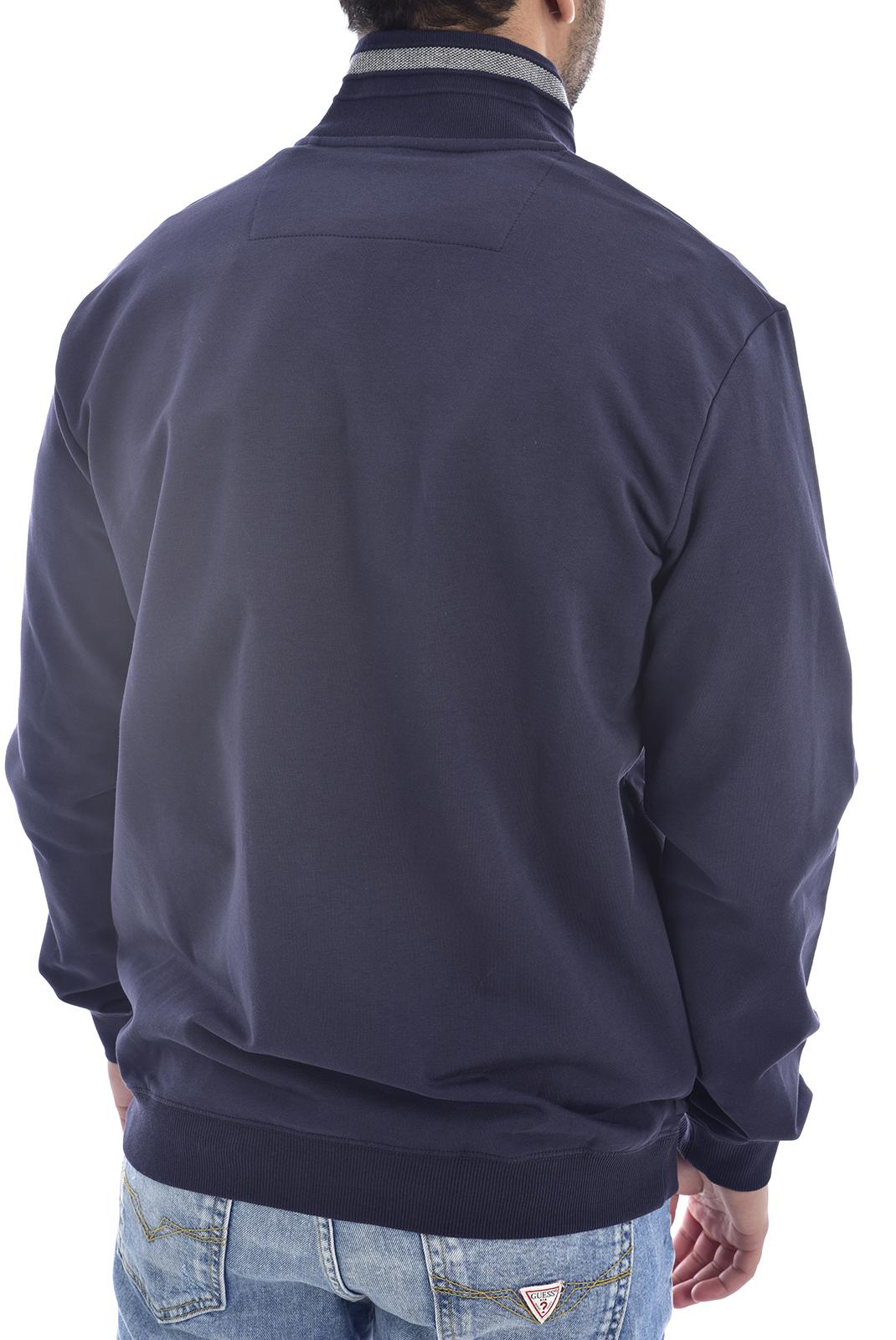Vestes zippées  Guess jeans M0GQ80 K6ZS0 AL TRACK BLUE NAVY