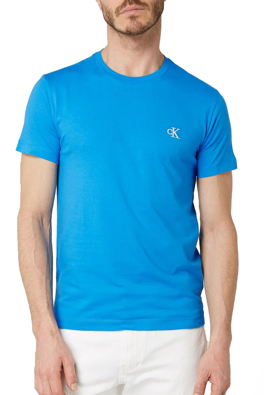 T-S manches courtes  Calvin klein J30J314544 - CK ESSENTIAL C2O COASTAL BLUE
