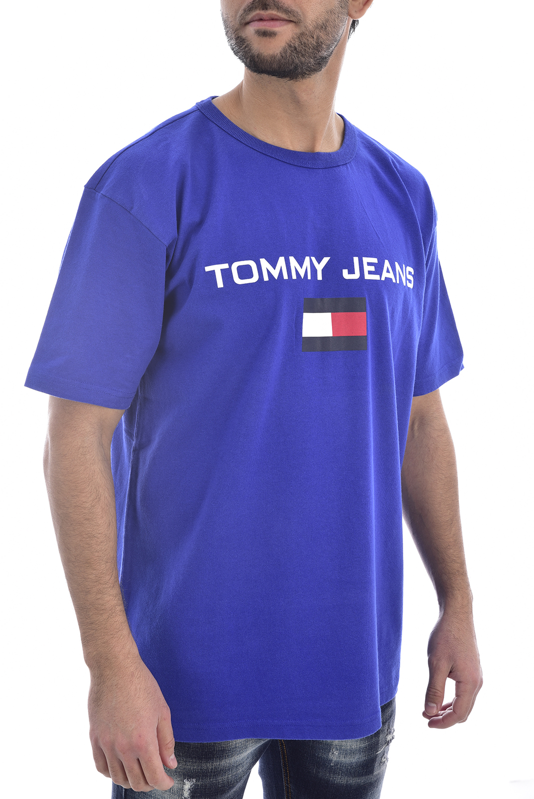 T-S manches courtes  Tommy Jeans DM0DM05234 LOGO 419 ESTATE BLUE
