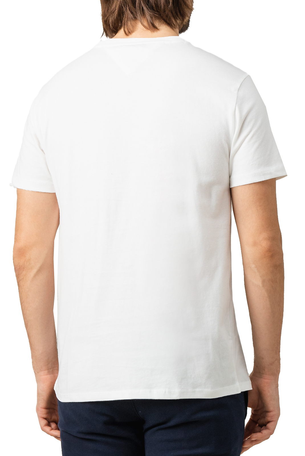 T-S manches courtes  Tommy Jeans DM0DM07472 CHEST YA2 CLASSIC WHITE