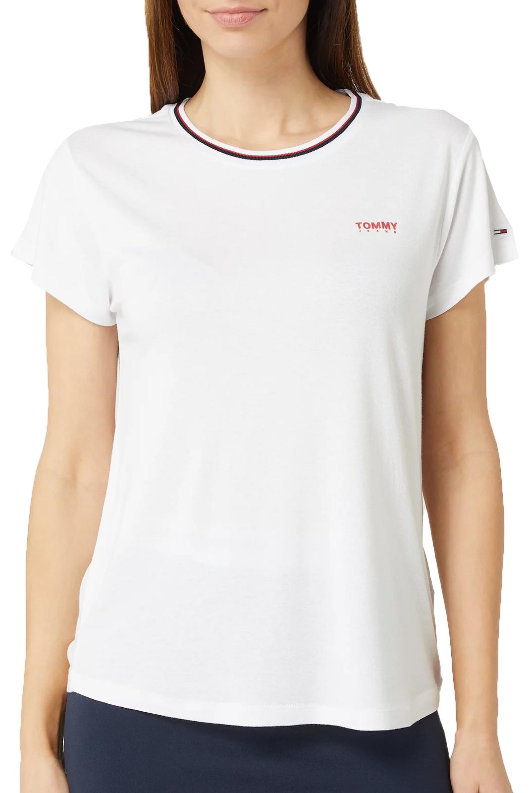 Tee shirt  Tommy Jeans DW0DW08015  RIB YBR WHITE
