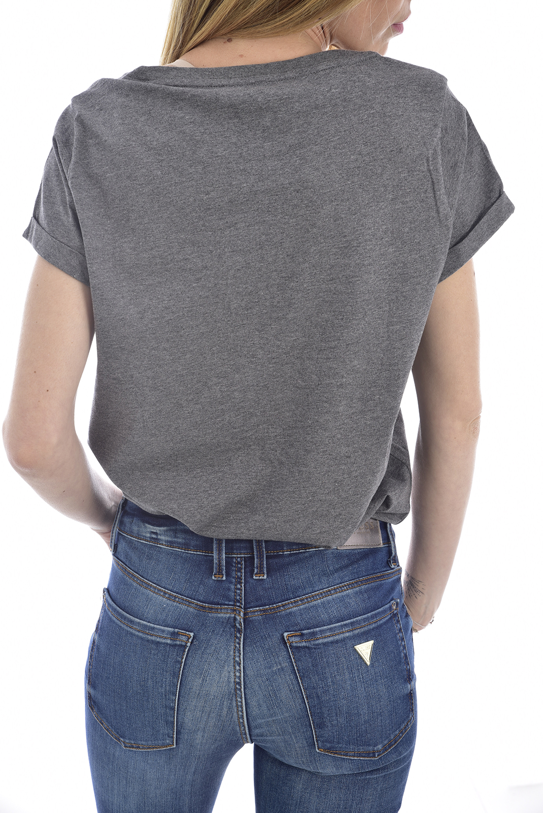 Tee shirt  Tommy Jeans UW01618 091 DARK GREY HTR