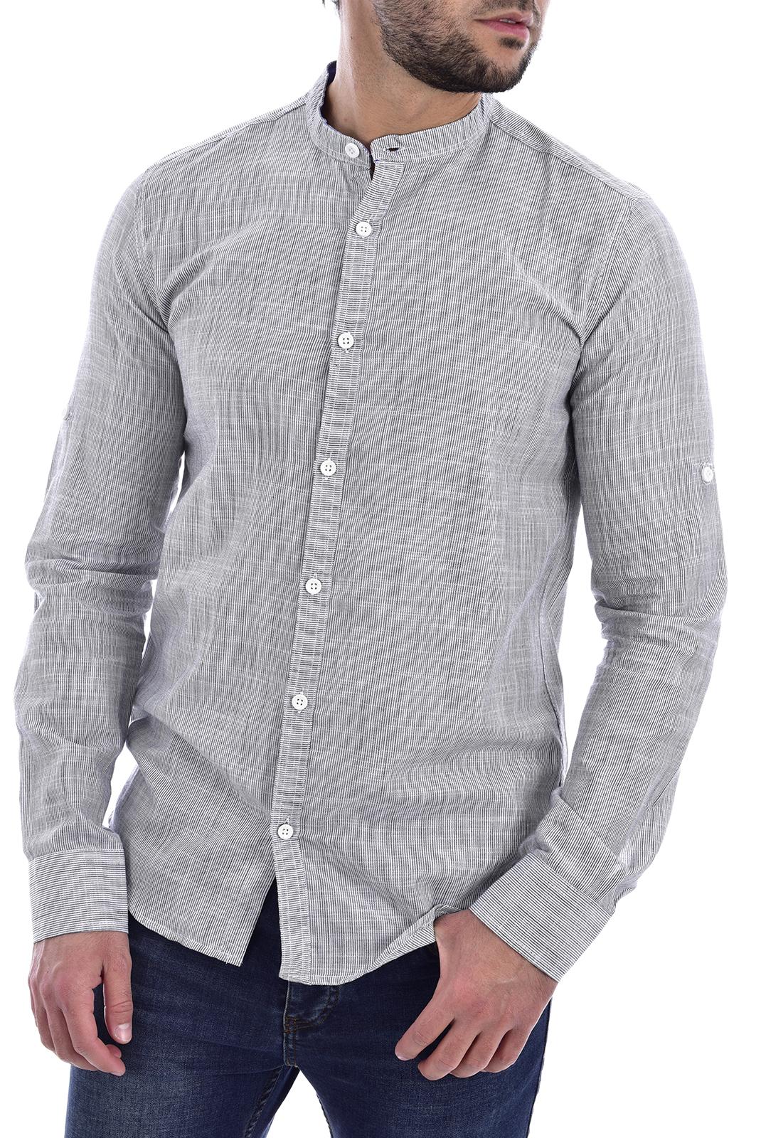 Chemises manches longues  Goldenim paris 1045 GRIS CLAIR