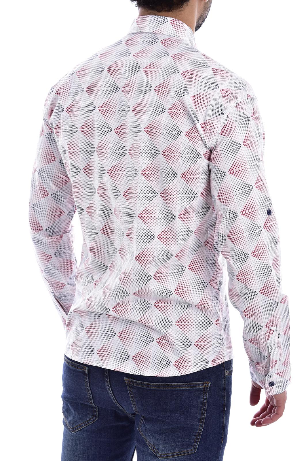 Chemises manches longues  Goldenim paris 1043 BLANC/ROUGE/BLEU
