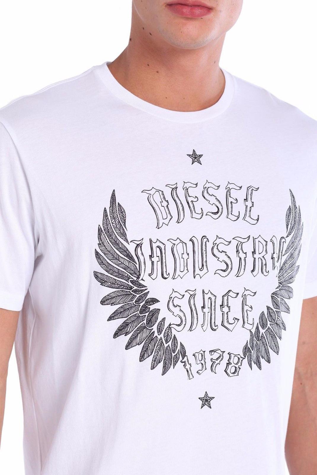 Tee-shirts  Diesel OOSC43 NITARE 100 BLANC