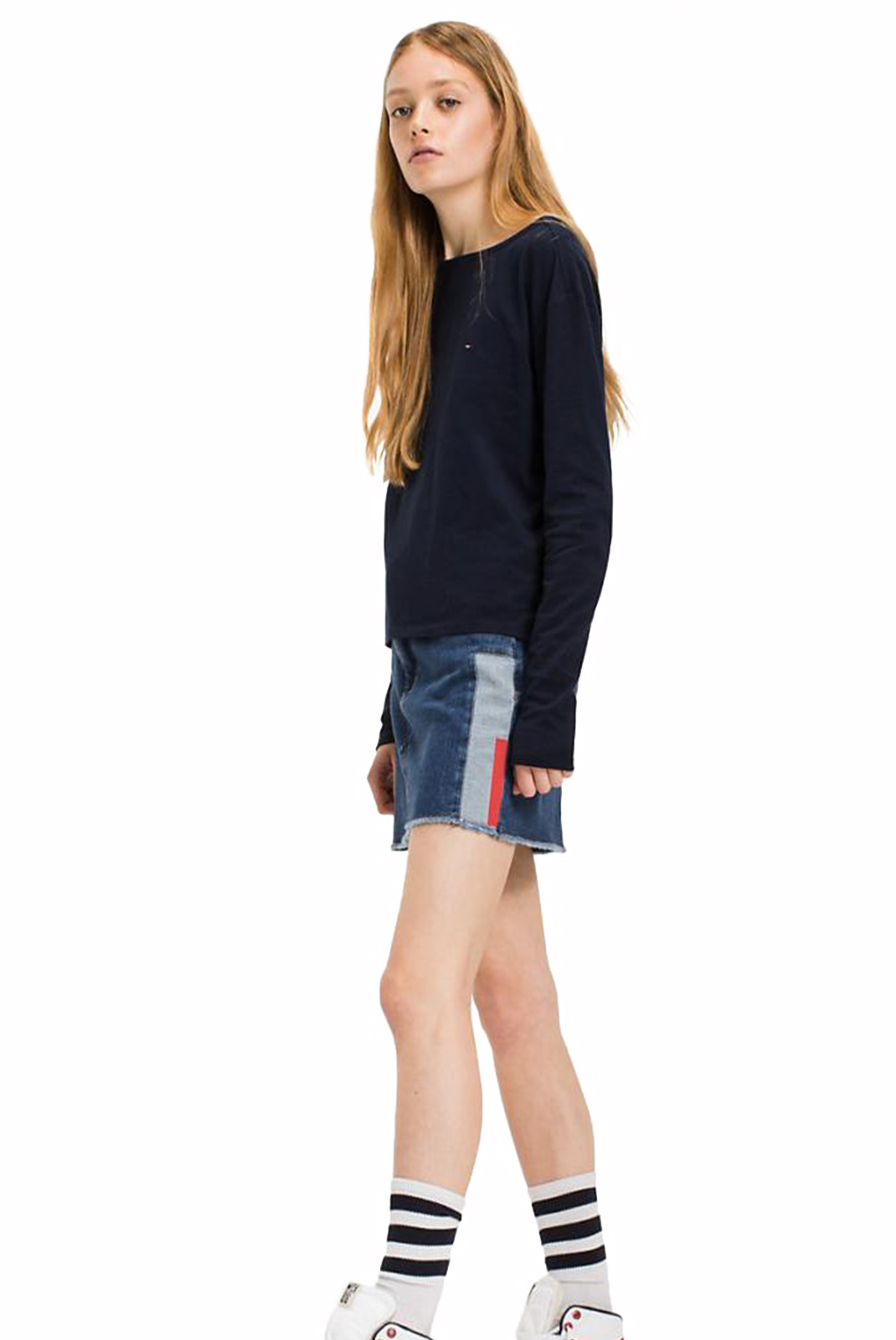 Tee shirt manches longues  Tommy Jeans DW0DW03984416 416 NAVY BLAZER