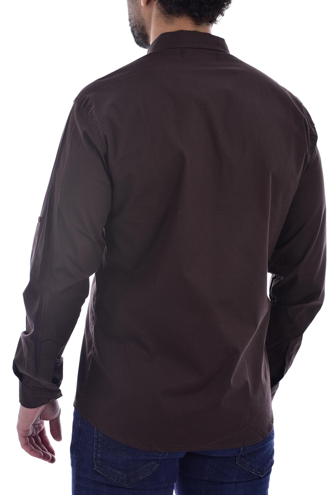 Chemises manches longues  Goldenim paris 1032 MARRON